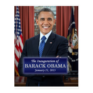Inauguración 2013 de Barack Obama Tarjetas Postales