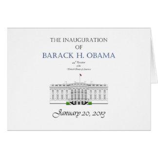 Inauguración 2013 de Obama Tarjeta De Felicitación