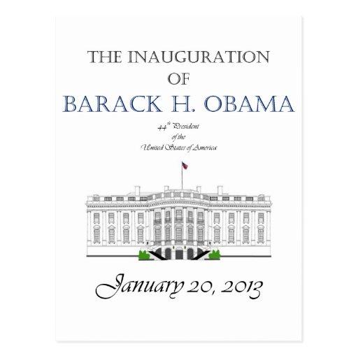 Inauguración 2013 de Obama Tarjeta Postal