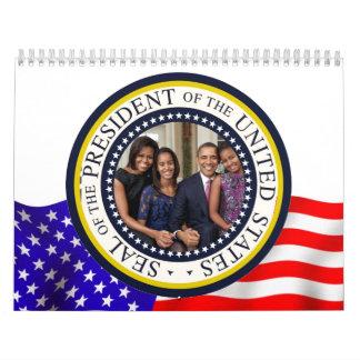 Inauguración 2013 de presidente Barack Obama Calendarios De Pared