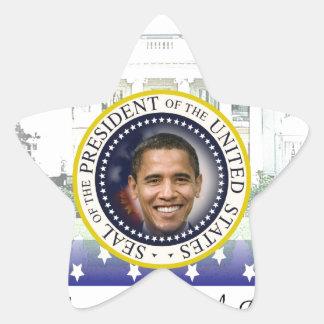 Inauguración 2013 de presidente Barack Obama Pegatina En Forma De Estrella