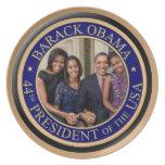 Inauguración 2013 de presidente Barack Obama Plato De Cena