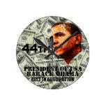 Inauguración 2013 de presidente Barack Obama Relojes De Pared