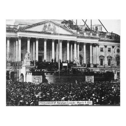 Inauguración Abraham Lincoln del 4 de marzo de 186 Postales
