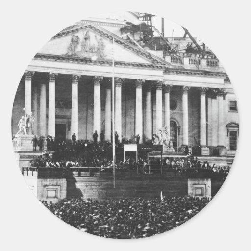 Inauguración Abraham Lincoln del 4 de marzo de Pegatina Redonda