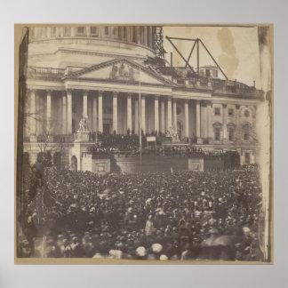Inauguración de Abraham Lincoln el 4 de marzo de 1 Póster