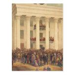 Inauguración de la guerra civil americana de postales