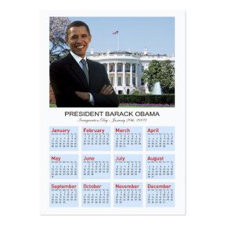 Inauguración de Obama - calendario de la tarjeta Tarjetas De Visita Grandes
