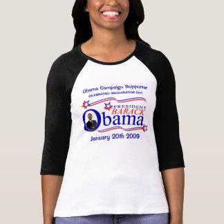 Inauguración de Obama - camisa del partidario de