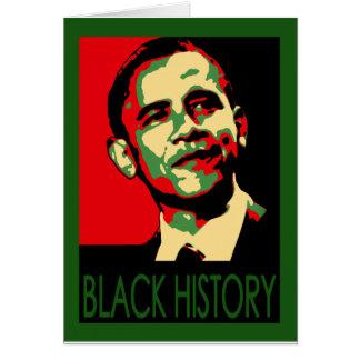 Inauguración de Obama, camisetas negras del mes de Tarjeta De Felicitación