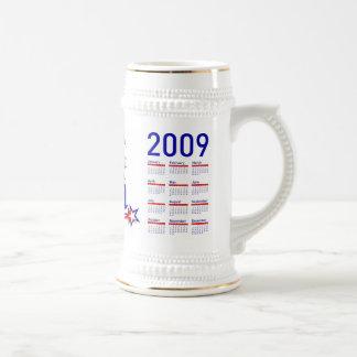 Inauguración de Obama con el calendario 2009 Taza