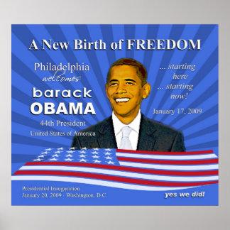 Inauguración de Obama - poster agradable de Philad