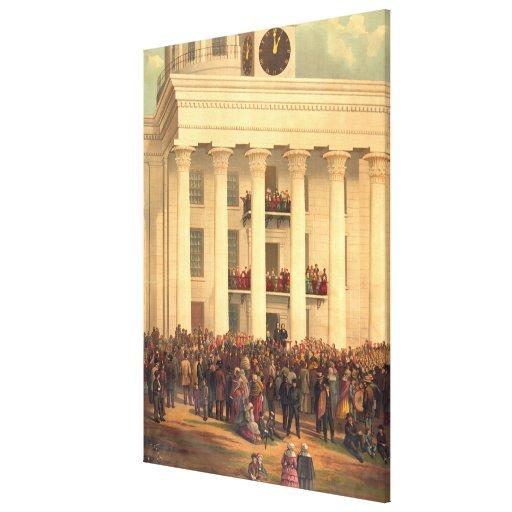 Inauguración de presidente Jefferson Davis de CSA Impresion De Lienzo
