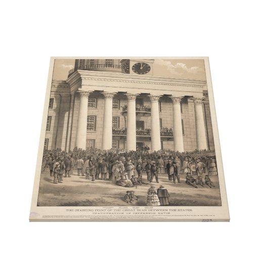 Inauguración de presidente Jefferson Davis de CSA Lienzo Envuelto Para Galerias