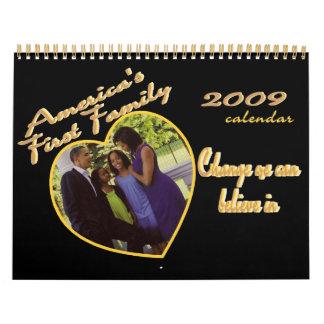 Inauguración de PRESIDENTE OBAMA conmemorativa Calendarios De Pared