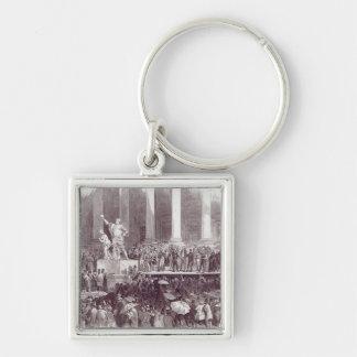 Inauguración de presidente Polk: El juramento Llavero Cuadrado Plateado