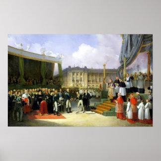 Inauguración de un monumento en la memoria Louis X Impresiones