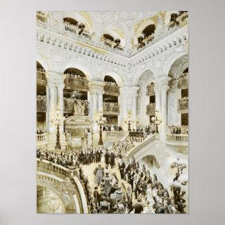 Inauguración del teatro de la ópera de París Poster