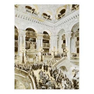 Inauguración del teatro de la ópera de París Postal