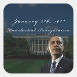 Inauguración presidencial de Barack Obama 2013 Calcomanía Cuadradas
