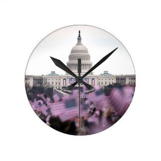 Inauguración presidencial de Estados Unidos Reloj Redondo Mediano
