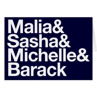 Inauguración y más de Obama Tarjeta De Felicitación