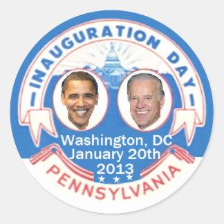 Inaugural 2013 classic round sticker