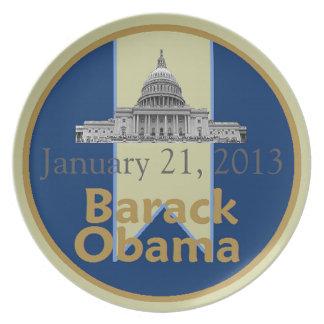 Inaugural 2013 dinner plate
