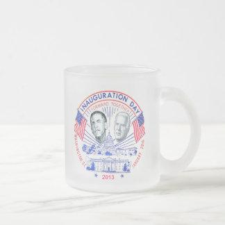 Inaugural 2013 frosted glass coffee mug