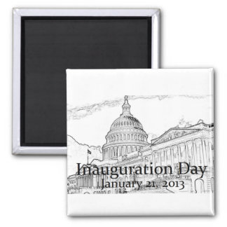 Inaugural 2013 2 inch square magnet
