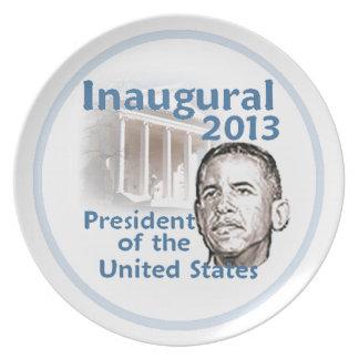 Inaugural 2013 melamine plate