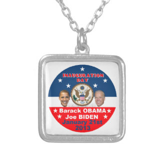 Inaugural 2013 silver plated necklace