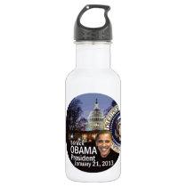 Inaugural 2013 stainless steel water bottle