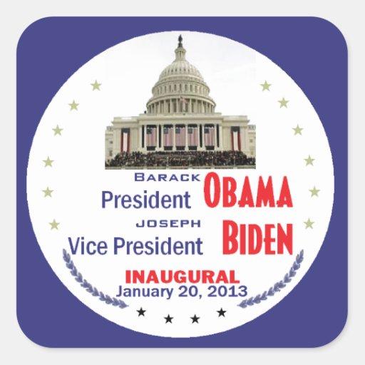 Inaugural 2013 square sticker