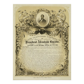 Inaugural Address of Abraham Lincoln March 4 1865 Poster