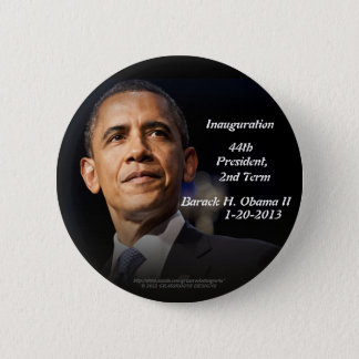 Inauguration 44th President, 2nd Term Barack Obama Button