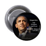 Inauguration 44th President, 2nd Term Barack Obama Pinback Buttons