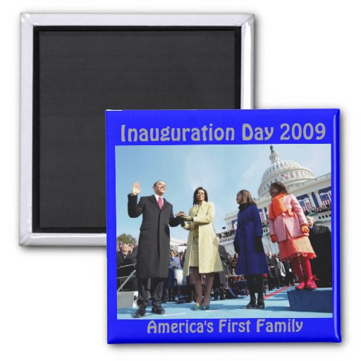 inauguration day  2009 2 inch square magnet