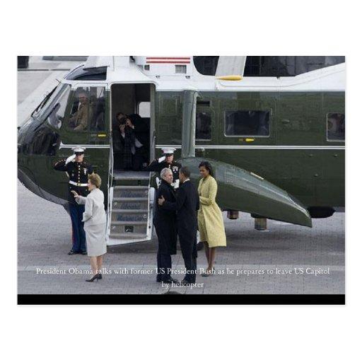 Inauguration Day in Photos Bush Leaving Washington Post Card