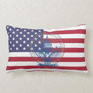 Inauguration Donald Trump Logo American Flag USA Lumbar Pillow