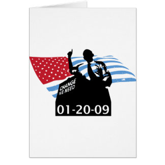 Inauguration Obama Greeting Cards