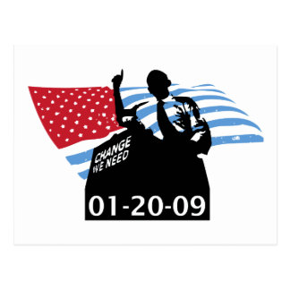 Inauguration Obama Postcard