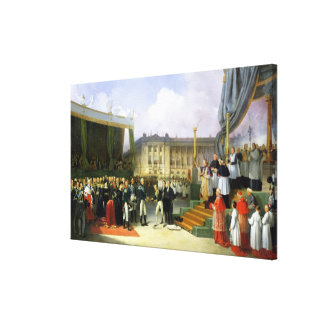 Inauguration of a Monument in Memory Louis XVI Canvas Print