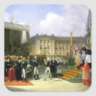 Inauguration of a Monument in Memory Louis XVI Square Sticker