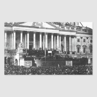 Inauguration of Abraham Lincoln March 4, 1861 Rectangular Sticker