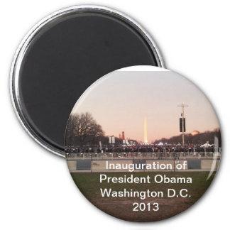 Inauguration of Barrack Obama 2013 back 2 back 2 Inch Round Magnet