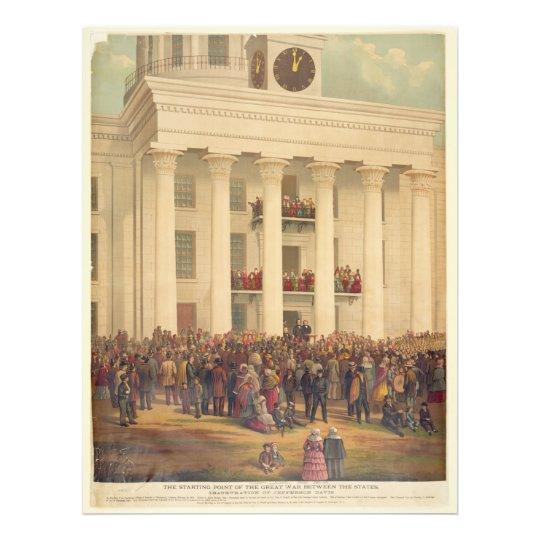 Inauguration of Jefferson Davis American Civil War Photo Print