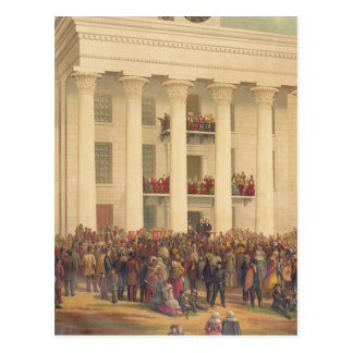 Inauguration of Jefferson Davis American Civil War Postcard