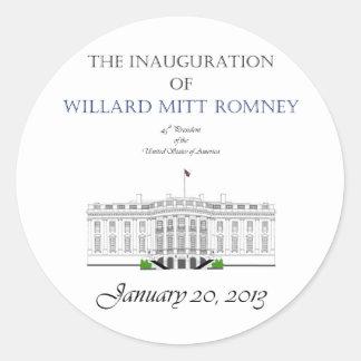 Inauguration of Mitt Romney 2013 Classic Round Sticker