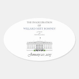 Inauguration of Mitt Romney 2013 Oval Sticker